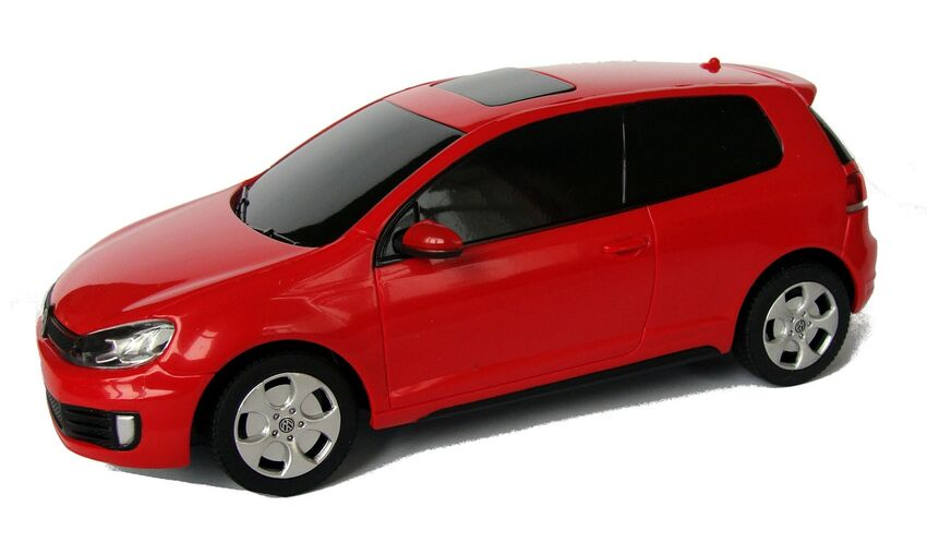 Радиоуправляемая машина Rastar 44700 Volkswagen Golf GTI 1:24, цвет красный 27MHZ