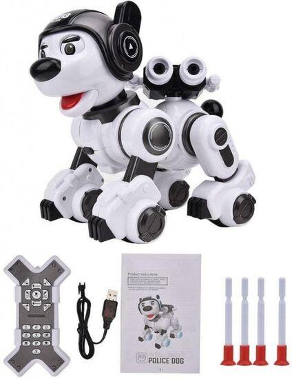 Интерактивная собака Crazon CR-1901 White Black звук, свет, танцы