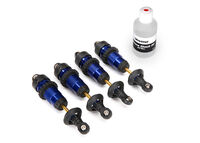 Shocks, GTR aluminum, blue-anodized (fully assembled w:o springs) (4)