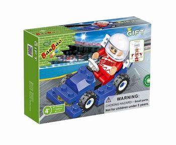 Конструктор Banbao (Банбао) 8117 Формула 1, синяя, 27 деталей