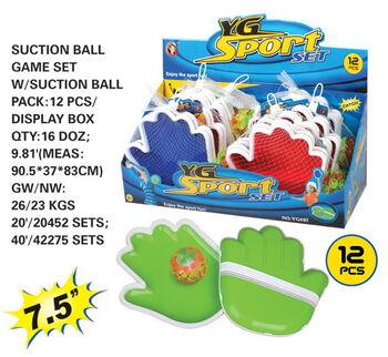Набор Лови-бросай, в комплекте мячик c перчаткой для ловли мяча,12 шт. в дисплее
