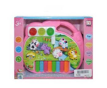 Игрушка для малышей. Пианино Звуки животных, звуковые и световые эффекты 21,8х5х16,6 см