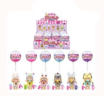 Пупс-куколка (сюрприз) в конфетке LolliPop Baby, с аксессуарами 6 видов в ассортименте