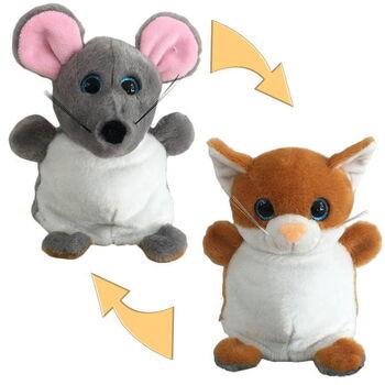Перевертыши. Мышка/Кошка 16 см, игрушка мягкая