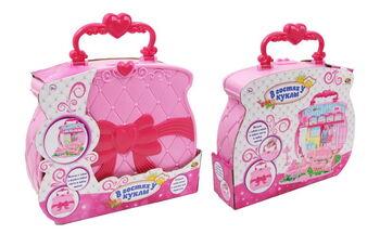 В гостях у куклы. Домик-сумка для куклы с аксессуарами