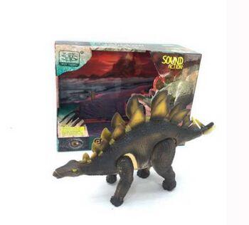 Игрушка интерактивная JUNFA Динозавр Стегозавр со световыми и звуковыми эффектами, 20см