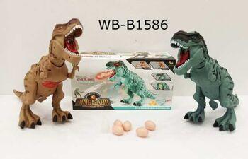 Игрушка интерактивная JUNFA Динозавр со световыми и звуковыми эффектами (проектор), в комплекте 3 яйца