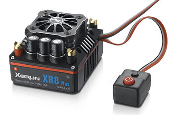 Бесколлекторный сенсорный регулятор XERUN XR8 Plus для автомоделей масштаба 1:8