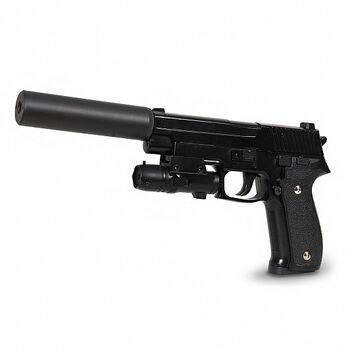 Пистолет пневматика металлический SIG 226 с глушителем и ЛЦУ G.26A 20см