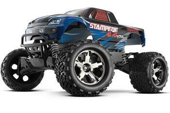 Радиоуправляемая машина Traxxas Stampede 4x4 VXL Brushless 1:10 RTR Fast Charger TSM Blue