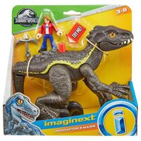 Фигурка Mattel Jurassic World Imaginext динозавр Индораптор и Мейзи Локвуд