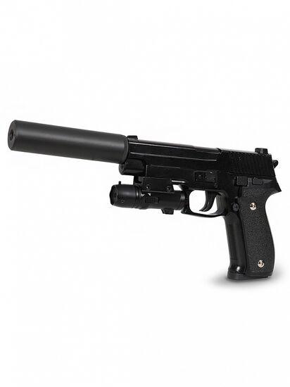 Пневматический пистолет SIG 226 с глушителем и ЛЦУ (металл, 20 см) - G.26A