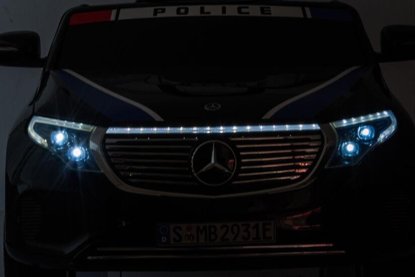 Детский электромобиль Mercedes Benz Police EQC 400 4MATIC - HL378-BLACK