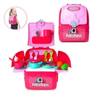 Ранец-трансформер Кухня юного шеф-повара, розовая