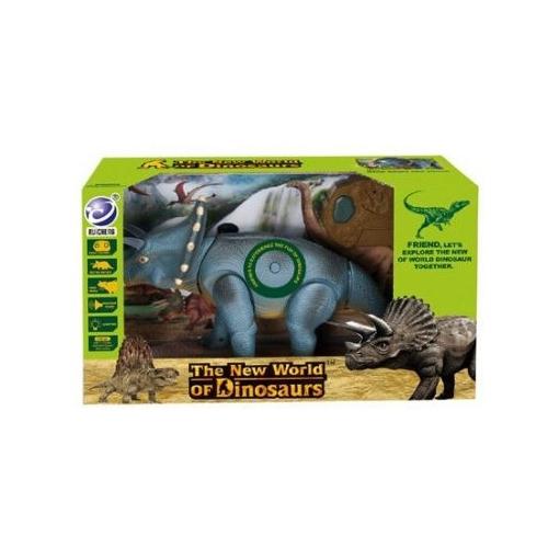 Радиоуправляемый динозавр - Трицератопс (39 см, свет, звук) - 9982