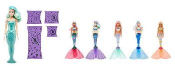 Игровой набор Mattel Barbie Мода Волна 4, Кукла-русалка с аксессуарами в непрозрачной упаковке (сюрприз)
