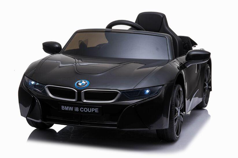 Электромобиль BMW i8 Coupe 12V - JE1001-BLACK-PAINT