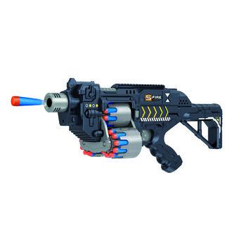Автомат пулемет черный на батарейках с мягкими пулями - G2B