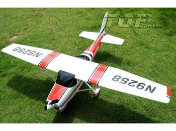 Радиоуправляемый самолет Top RC Cessna 182 500 class красная 1410мм 2.4G 4-ch LiPo RTF