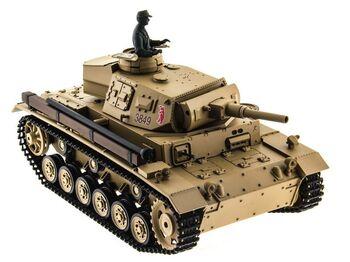 Радиоуправляемый танк Heng Long Panzer III type H Original V6.0  2.4G 1/16 RTR