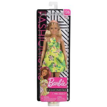 Кукла Mattel Barbie из серии Игра с модой, в платье с цветами