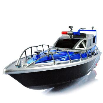 Радиоуправляемый полицейский катер HT Blue 1:20 2.4G - HT-2875B-BLUE
