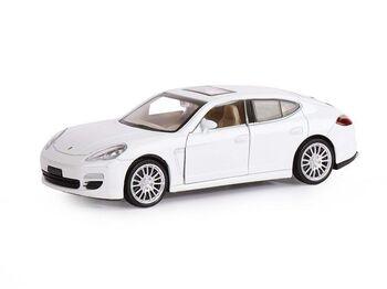 """Машина """"АВТОПАНОРАМА"""" Porsche Panamera S, белый, 1/32, свет, звук, инерция, в/к 17,5*13,5*9 см"""