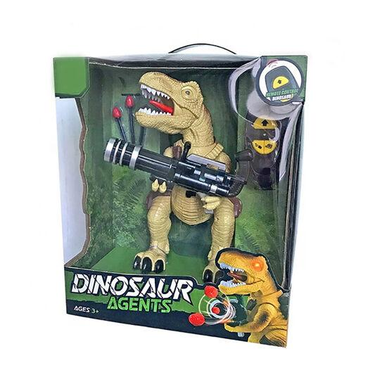 Радиоуправляемый коричневый динозавр Ти-Рекс (свет, звук, стреляет пулями) - DT-6036-BROWN