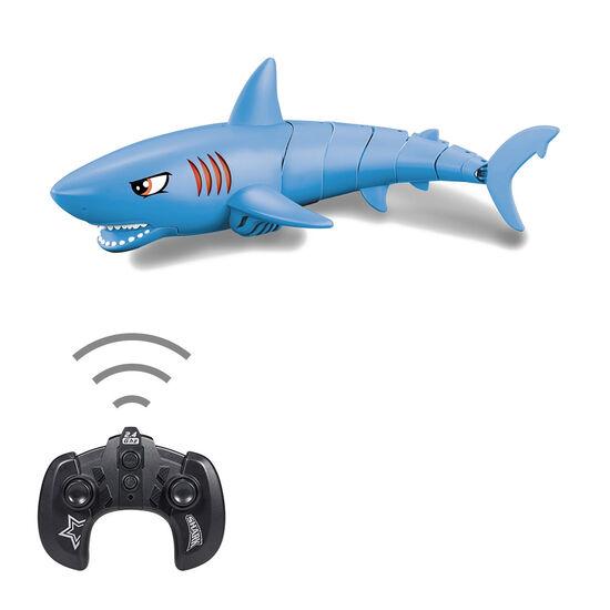 Радиоуправляемый робот Акула (синий, плавает в воде) - LNT-K23B-BLUE
