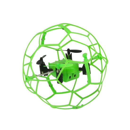 Радиоуправляемый квадрокоптер Helimax Green SkyWalker в защитной сетке - HM1340-GREEN