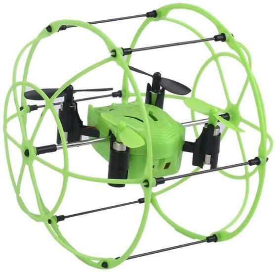 Радиоуправляемый квадрокоптер с защитной сеткой Green SkyWalker - HM1336-GREEN