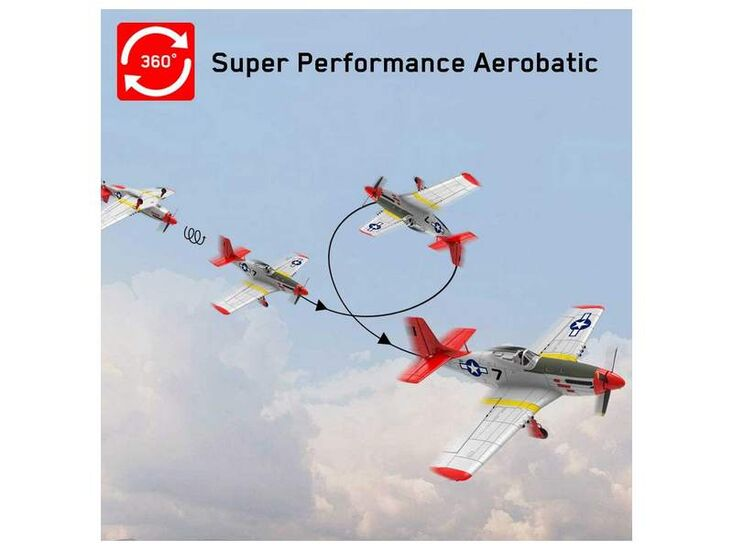 Радиоуправляемый самолет Volantex RC P51D 750мм Brushless 2.4G 4ch LiPo RTF with Gyro