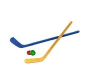 Набор Юный хоккеист (2 клюшки + 2 шайбы) 90х20х3,5 см