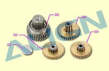 Шестерни G1, G2, G3, G4, G5 сервомашинки DS425M металл