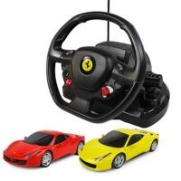 Радиоуправляемая машина Rastar Ferrari 458 Italia 1:18 с пультом управления в виде руля