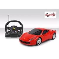 Радиоуправляемая машина Rastar Ferrari Italia 458 1:18 с пультом управления в виде руля