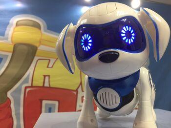 Интерактивная собака робот Chappi знает 20 фраз (синяя)