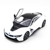 Радиоуправляемая машина Rastar BMW i8 White 1:14 (двери открываеются с пульта) - RAS-71000-W