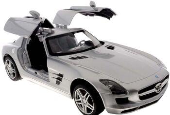 Машина Rastar 47600 Mercedes-Benz SLS AMG 1:14, цвет серебряный 40MHZ открываются двери