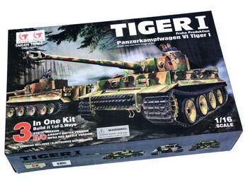 Радиоуправляемый танк Taigen German Tiger I Тигр 3-in-1 1:16 KIT