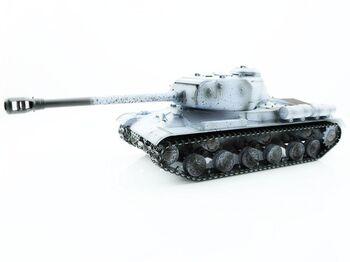 Радиоуправляемый танк Taigen 1/16 ИС-2 модель 1944, СССР, зимний, (для ИК танкового боя) 2.4G, деревянная коробка