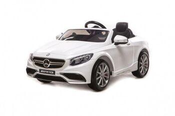 Радиоуправляемый детский электромобиль Mercedes-Benz S63 AMG 12V цвет белый