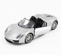Радиоуправляемая машина Porsche 918 Spider Silver 1:14 с электроприводом дверей