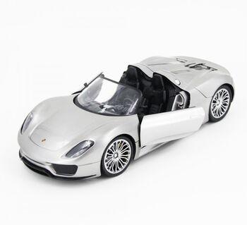 Радиоуправляемая машина MZ Porsche 918 Spider Silver 1:14 с электроприводом дверей