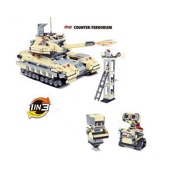 Конструктор Jie Star 3в1 (танк Т-90 и два робота) - 29018