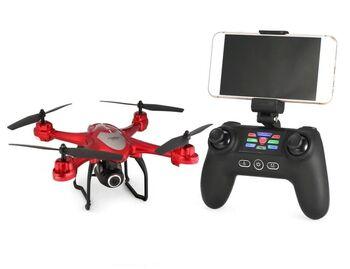 Квадрокоптер SJRC S30W черный GPS, камера 1080P