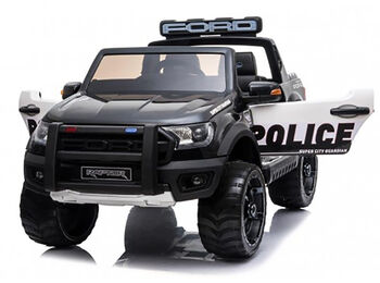 Электромобиль Ford Ranger Raptor Police с мигалками - DK-F150RP-BLACK-PAINT
