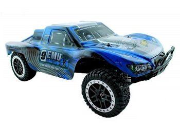 Радиоуправляемый шорт-корс Remo Hobby 9EMU Brushless (синий) 4WD 2.4G 1/8 RTR