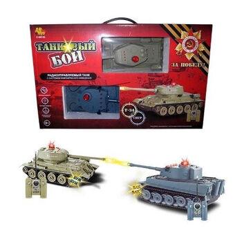 Танковый бой на радиоуправлении, в наборе: 2 танка Т-34 и Тигр