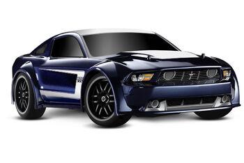 Traxxas Ford Mustang Brushed 1:16 (35 см) - полноприводная модель для дрифта